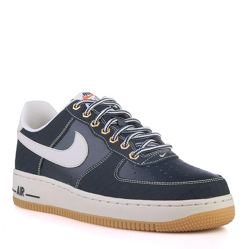 0729b8d0 мужские синие, белые, коричневые кроссовки nike air force 1 low 488298-434 -
