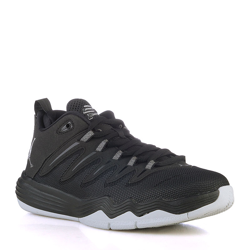 Кроссовки Jordan CP3.IX BGОбувь детская<br>Синтетика, текстиль, резина<br><br>Цвет: Черный, серый<br>Размеры US: 3.5Y;4Y<br>Пол: Детский