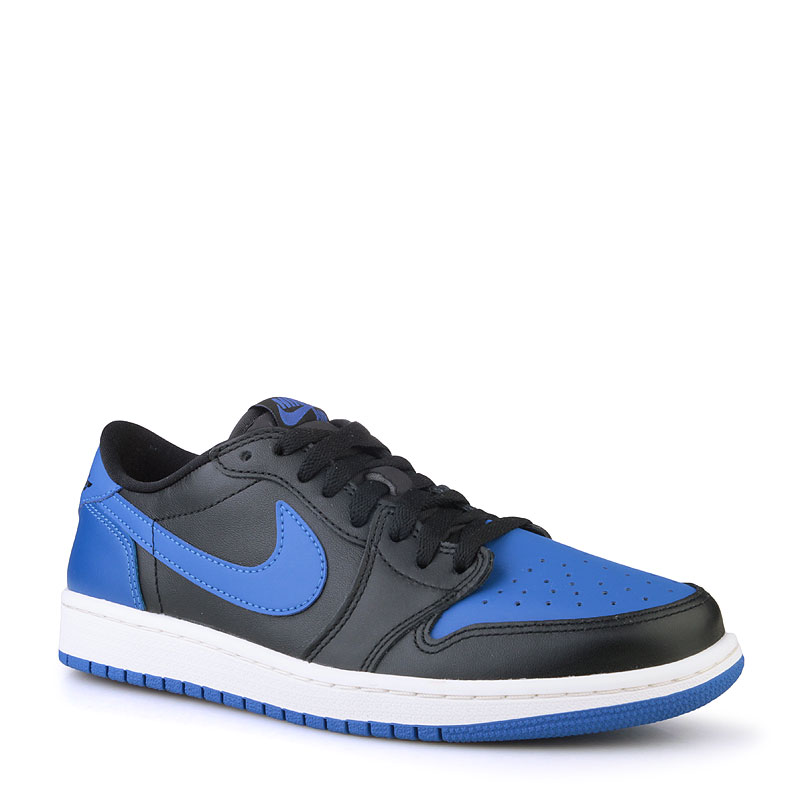 Кроссовки Jordan 1 Low Retro OGКроссовки lifestyle<br>Кожа, текстиль, резина<br><br>Цвет: Синий, белый<br>Размеры US: 7.5<br>Пол: Мужской
