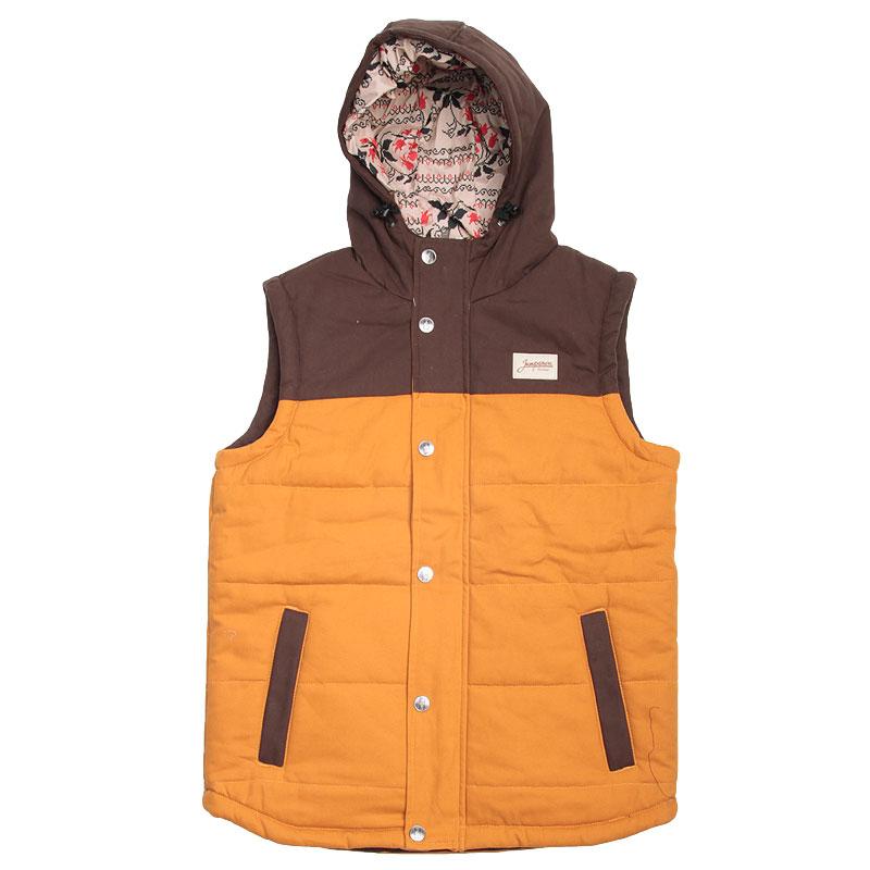 Жилет Запорожец heritage Folk Vest BrownКуртки, пуховики<br>Хлопок,полиэстер,полиэфир<br><br>Цвет: Коричневый<br>Размеры : S;L<br>Пол: Мужской