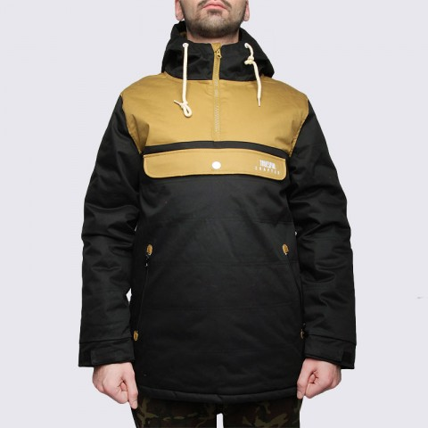 мужскую черную  куртку true spin анорак cloud jacket blk/bge Cloud Jacket-blk/bge - цена, описание, фото 3