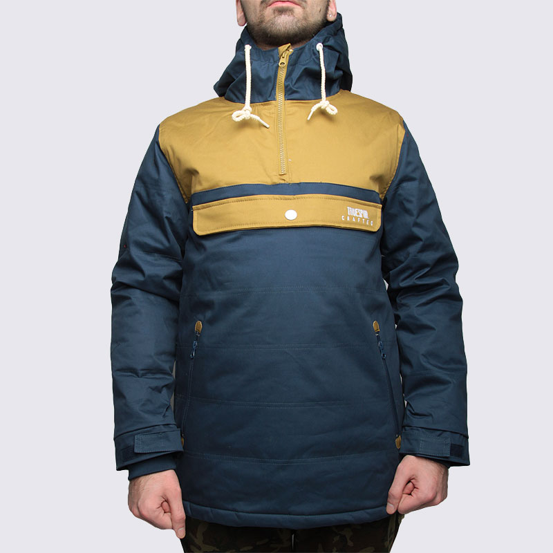 Купить мужскую синюю  куртку true spin анорак cloud jacket blue/bge в магазинах Streetball изображение - 3 картинки