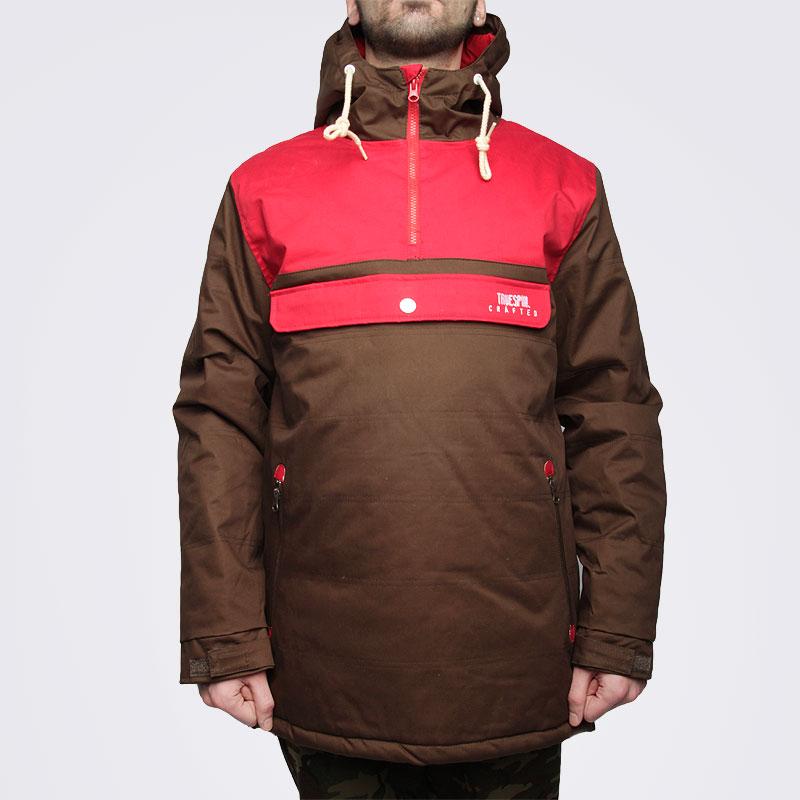 Купить мужскую коричневую  куртку true spin анорак cloud jacket в магазинах Streetball изображение - 3 картинки
