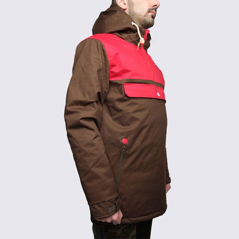 Купить мужскую коричневую  куртку true spin анорак cloud jacket в магазинах Streetball изображение - 4 картинки
