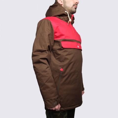 Купить мужскую коричневую  куртку true spin анорак cloud jacket в магазинах Streetball - изображение 4 картинки