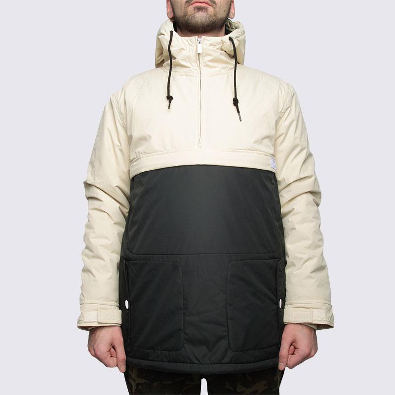 Купить мужскую черную  куртку true spin анорак fishtail beg/blk в магазинах Streetball изображение - 3 картинки