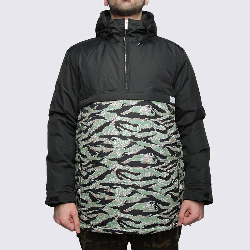 Купить мужскую зеленую  куртку true spin анорак fishtail blk/camo в магазинах Streetball изображение - 3 картинки
