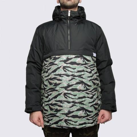 Купить мужскую зеленую  куртку true spin анорак fishtail blk/camo в магазинах Streetball - изображение 3 картинки