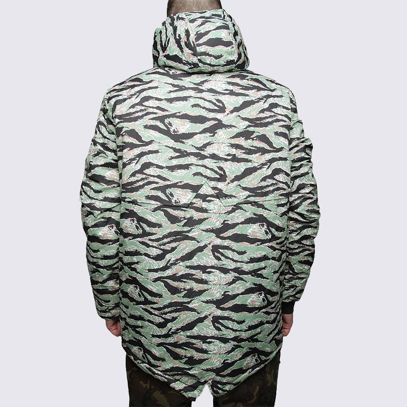 мужскую зеленую  куртку true spin анорак fishtail camo Fishtail camo - цена, описание, фото 5