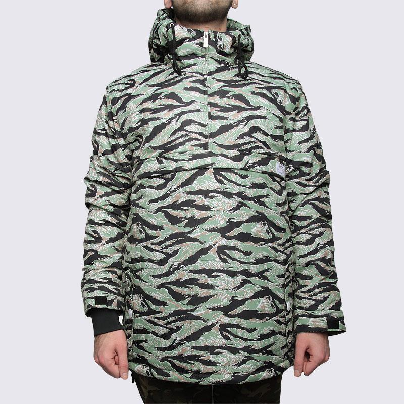 мужскую зеленую  куртку true spin анорак fishtail camo Fishtail camo - цена, описание, фото 3