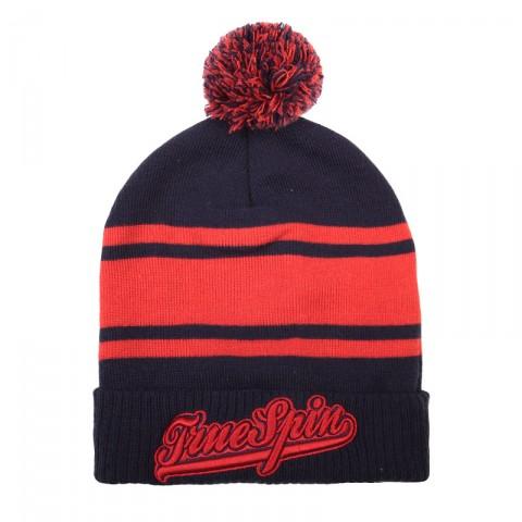 Купить синюю, красную  шапка true spin retro font pomp в магазинах Streetball - изображение 1 картинки