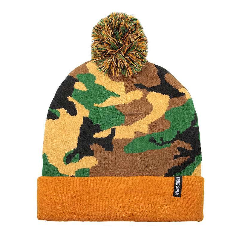 Купить камуфляж, оранжевую  шапка true spin original camo в магазинах Streetball изображение - 1 картинки