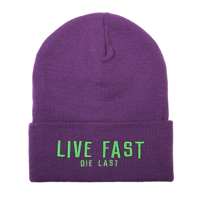 фиолетовую  шапка true spin live fast Live Face-purple - цена, описание, фото 1