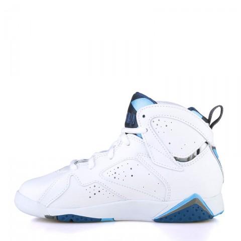 детские белые, голубые, синие  кроссовки jordan vii retro bp 304773-107 - цена, описание, фото 3