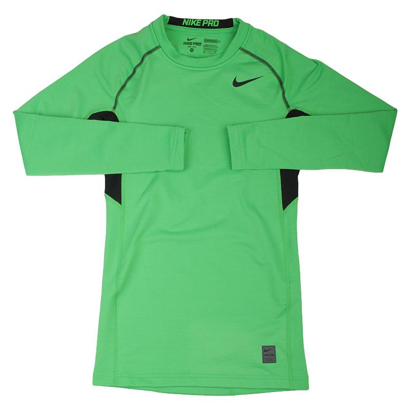 Футболка Nike Pro HyperwarmКомпрессионное белье<br>88% полиэстер, 12% эластан<br><br>Цвет: Зеленый<br>Размеры US: M;L;XL;2XL<br>Пол: Мужской