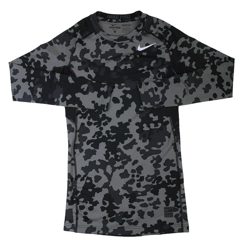 Купить мужскую черную, серую  футболка nike hyperwarm df mx в магазинах Streetball изображение - 1 картинки