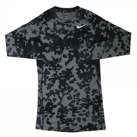 Купить мужскую черную, серую  футболка nike hyperwarm df mx в магазинах Streetball - изображение 1 картинки