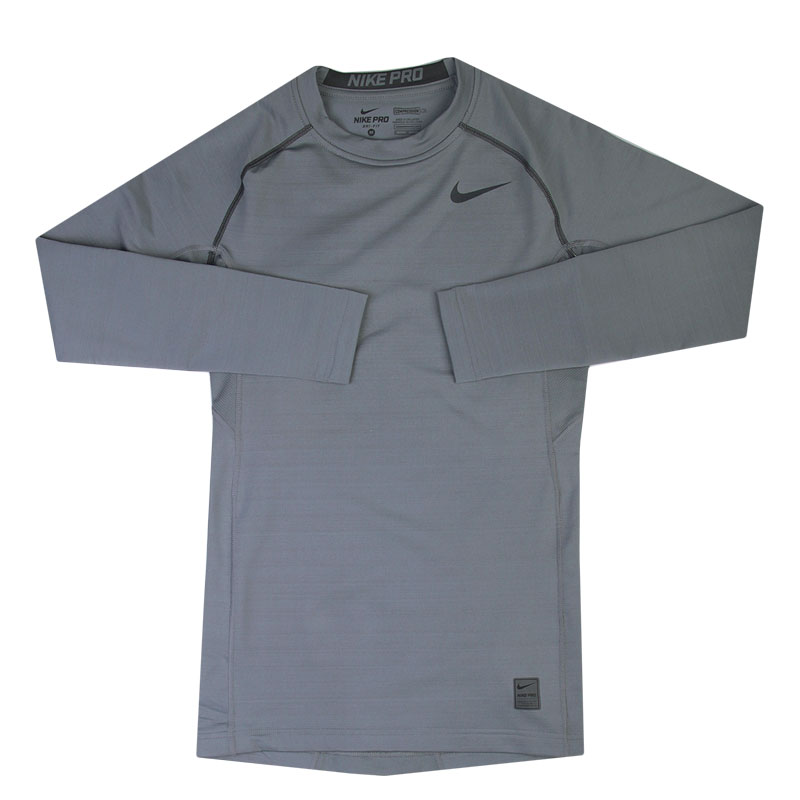 Футболка Nike Pro HyperwarmКомпрессионное белье<br>88% полиэстер, 12% эластан<br><br>Цвет: Серый<br>Размеры US: S;M;2XL<br>Пол: Мужской