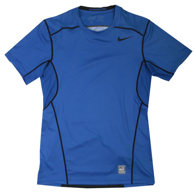 Футболка Nike Hypercool FTTDКомпрессионное белье<br>92% Полиэстер, 8% Эластан<br><br>Цвет: Синий<br>Размеры US: 2XL<br>Пол: Мужской