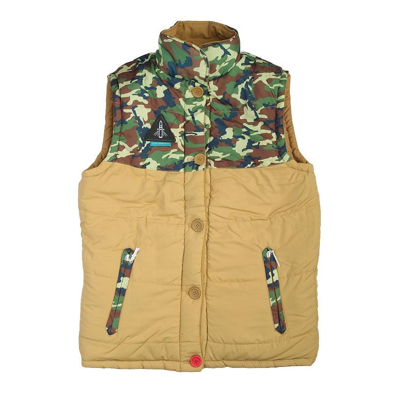 Купить мужской коричневый  жилет true spin alaska vest beige camo в магазинах Streetball изображение - 3 картинки