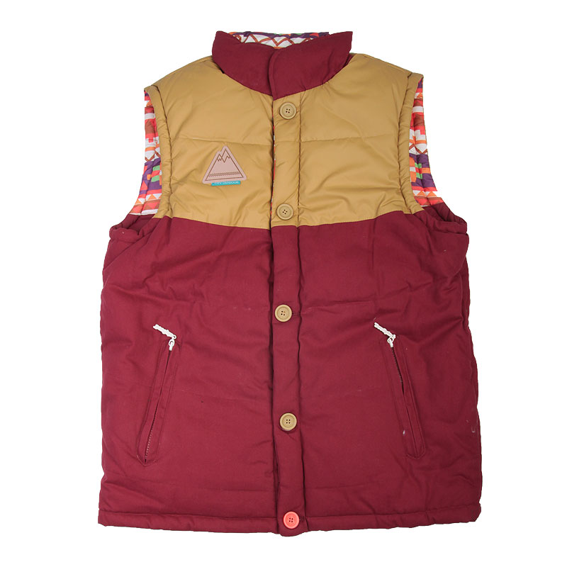 ����� True spin Alaska Vest Burgundy Native