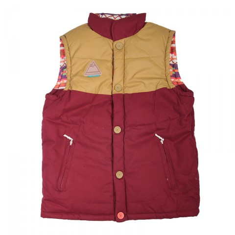 Alaska Vest Burgundy Native True spin