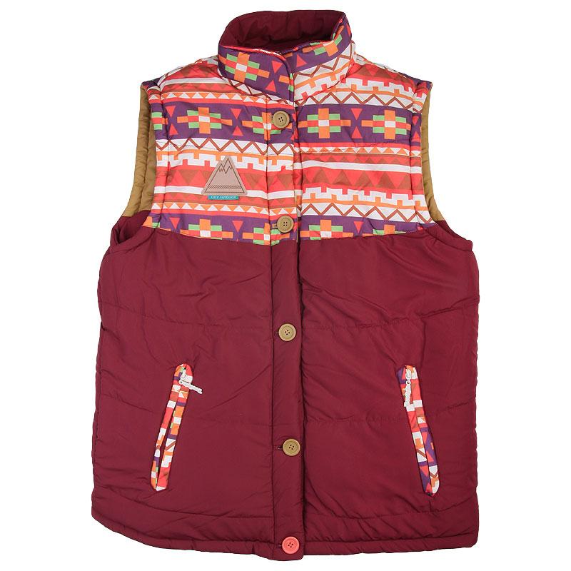 Купить мужской красный  жилет true spin alaska vest burgundy native в магазинах Streetball изображение - 3 картинки