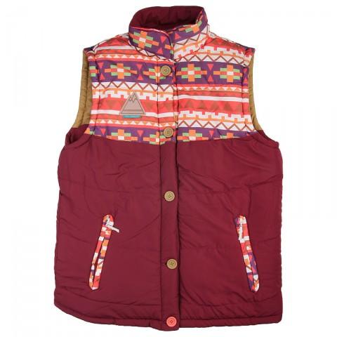 Купить мужской красный  жилет true spin alaska vest burgundy native в магазинах Streetball - изображение 3 картинки