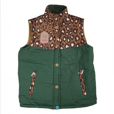 Купить мужской зеленый  жилет true spin alaska vest leopard в магазинах Streetball - изображение 3 картинки