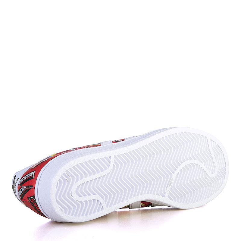 Купить мужские красные, белые  кроссовки adidas superstar nigo aop в магазинах Streetball изображение - 4 картинки