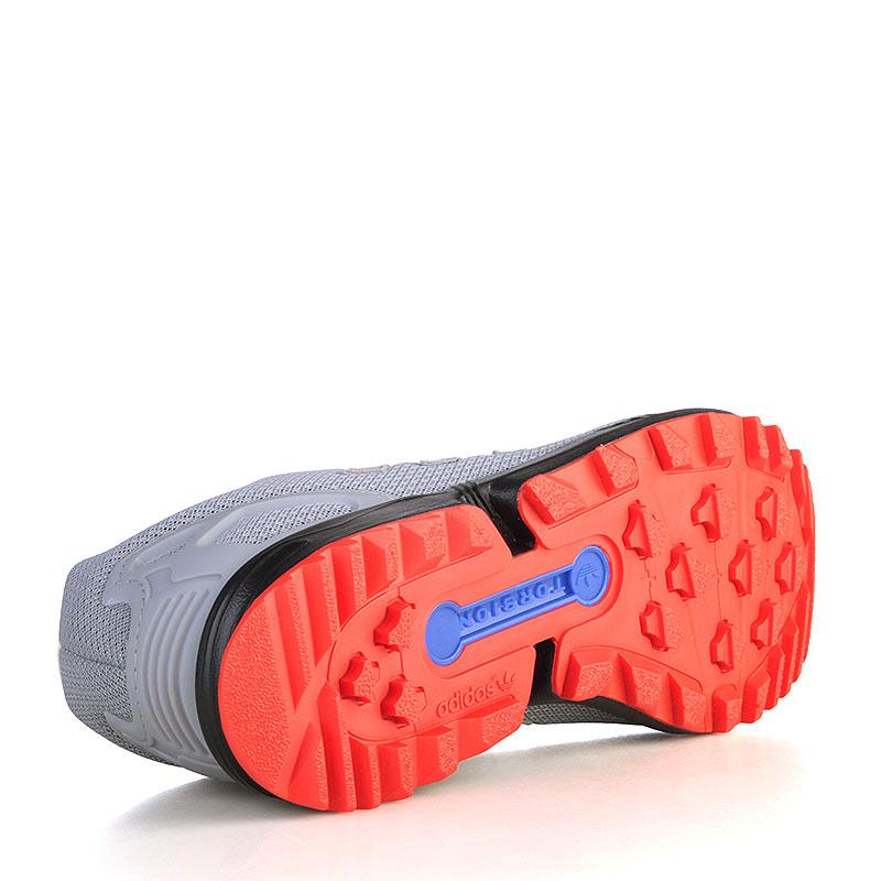 Купить мужские серые, чёрные, красные, синие, зелёные  кроссовки adidas zx flux rs в магазинах Streetball изображение - 4 картинки