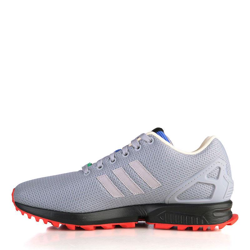 Купить мужские серые, чёрные, красные, синие, зелёные  кроссовки adidas zx flux rs в магазинах Streetball изображение - 3 картинки