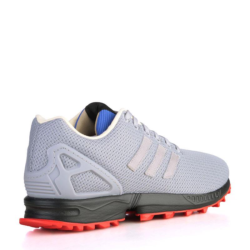 Купить мужские серые, чёрные, красные, синие, зелёные  кроссовки adidas zx flux rs в магазинах Streetball изображение - 2 картинки