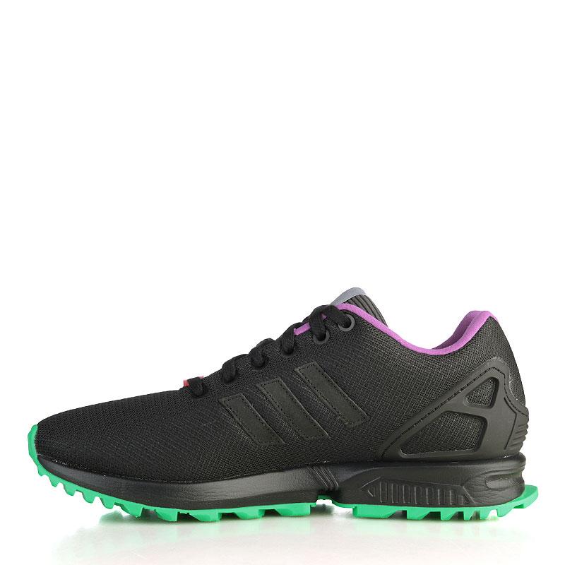 мужские чёрные, зелёные, серые, фиолетовые  кроссовки adidas zx flux rs AF6341 - цена, описание, фото 3