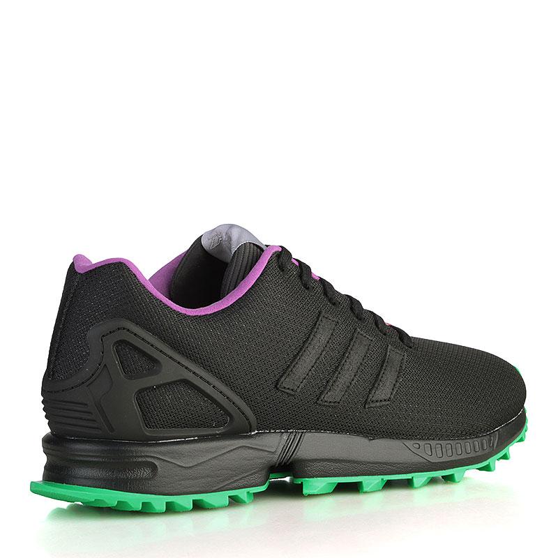 мужские чёрные, зелёные, серые, фиолетовые  кроссовки adidas zx flux rs AF6341 - цена, описание, фото 2