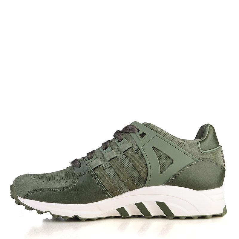 Купить мужские зелёные, белые  кроссовки adidas equipment running support в магазинах Streetball изображение - 3 картинки
