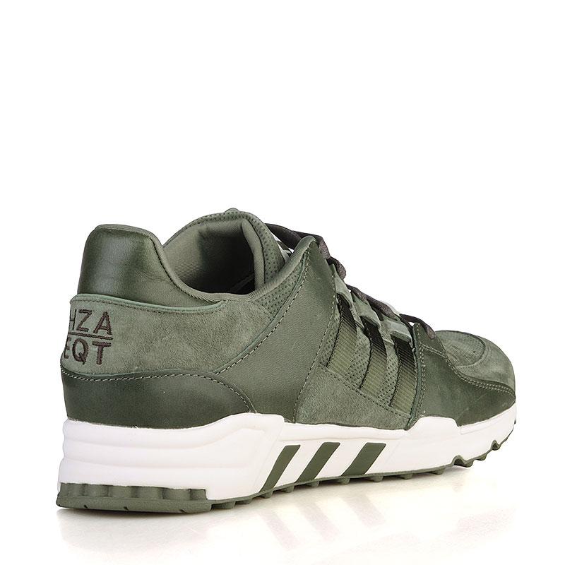 Купить мужские зелёные, белые  кроссовки adidas equipment running support в магазинах Streetball изображение - 2 картинки