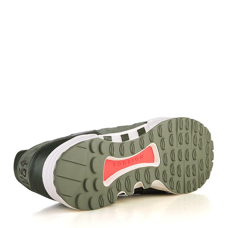Купить мужские зелёные, белые  кроссовки adidas equipment running support в магазинах Streetball изображение - 4 картинки
