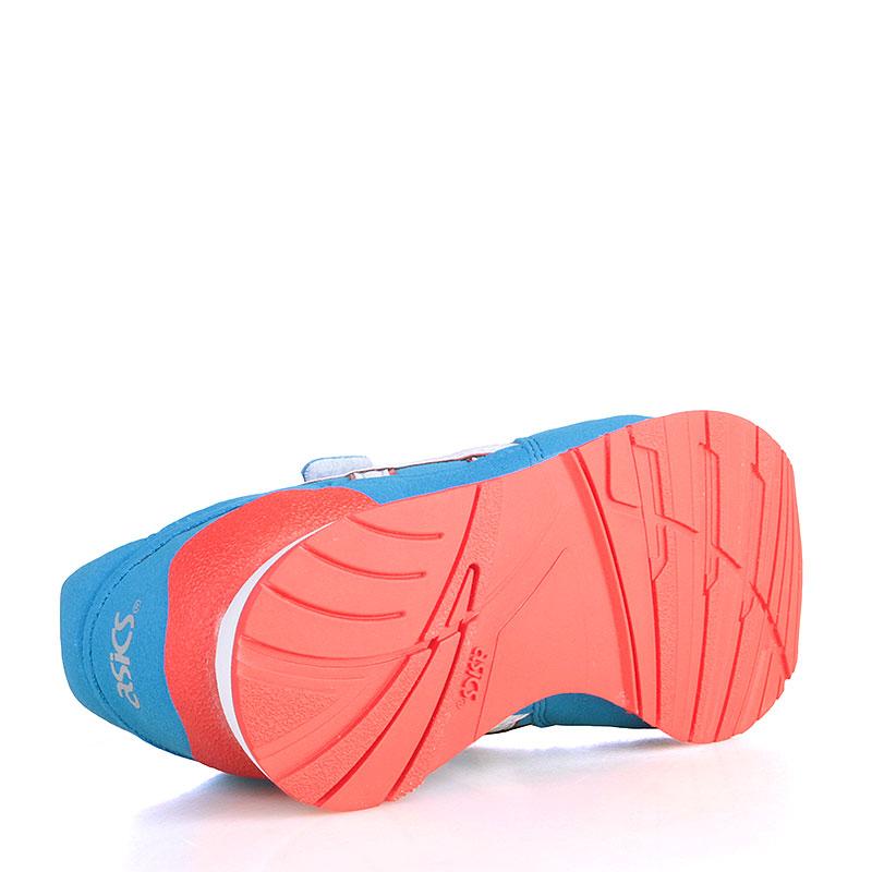 Купить детские голубые, белые, коралловые  кроссовки asics tiger pre-atlantis ps в магазинах Streetball изображение - 4 картинки
