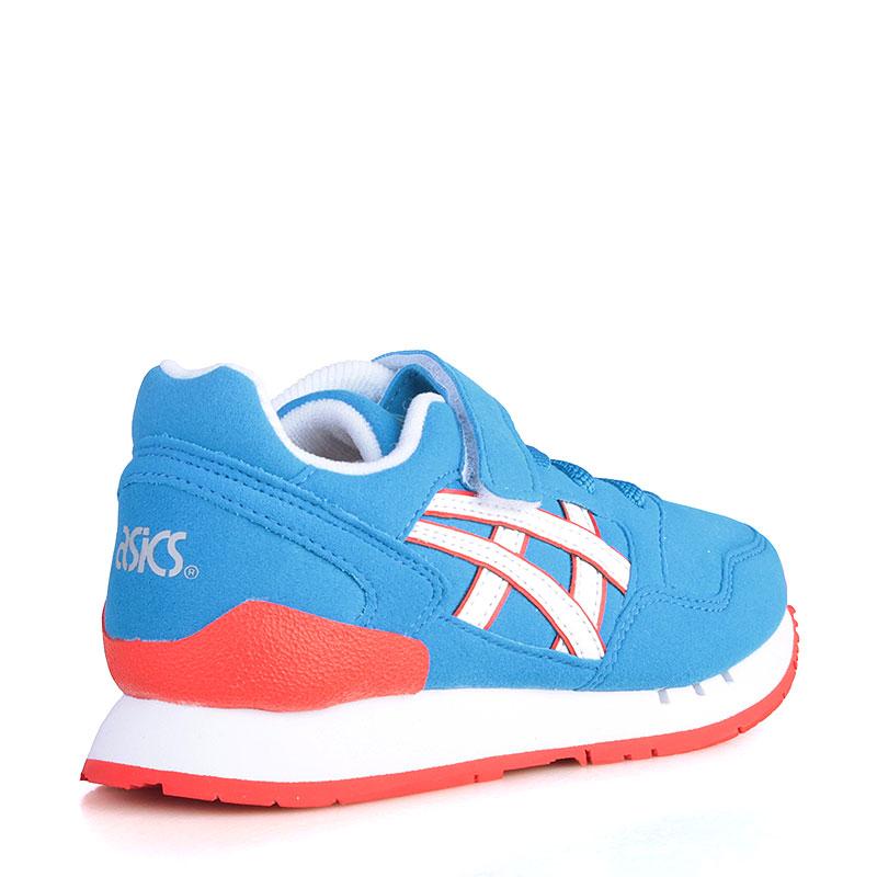 Купить детские голубые, белые, коралловые  кроссовки asics tiger pre-atlantis ps в магазинах Streetball изображение - 2 картинки