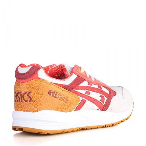 женские белые, розовые, красные, бордовые, коричневые  кроссовки asics tiger gel saga H5Q5N-0223 - цена, описание, фото 2