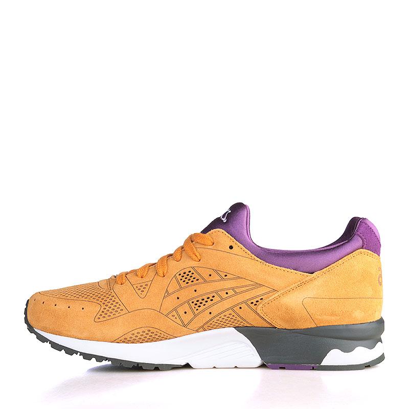 мужские коричнвые, фиолетовые, белые, чёрные  кроссовки asics tiger gel-lyte v lc HL506-7171 - цена, описание, фото 3