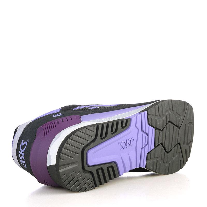 женские чёрные, белые, фиолетовые  кроссовки asics tiger gel-respector H5X8L-9035 - цена, описание, фото 4