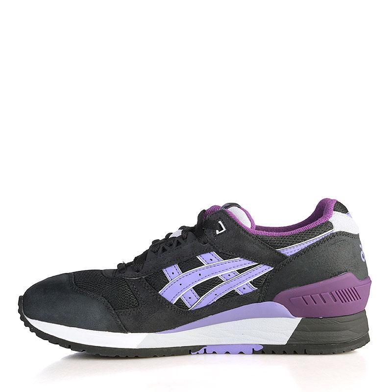 женские чёрные, белые, фиолетовые  кроссовки asics tiger gel-respector H5X8L-9035 - цена, описание, фото 3