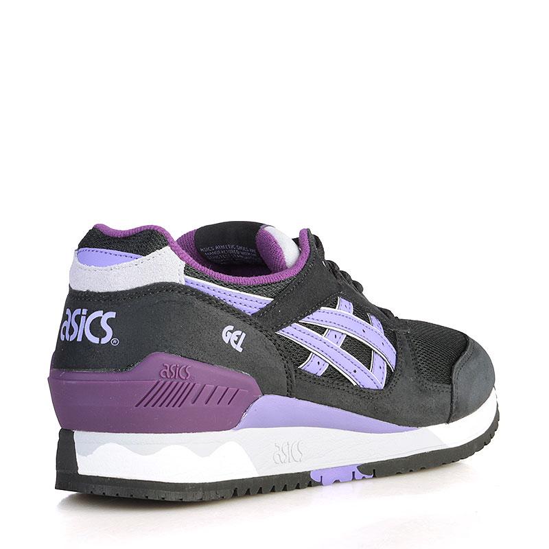 женские чёрные, белые, фиолетовые  кроссовки asics tiger gel-respector H5X8L-9035 - цена, описание, фото 2