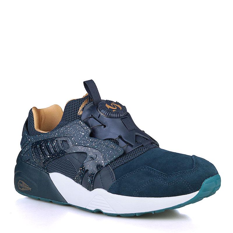 мужские синие, белые, золотые кроссовки puma disc blaze venus 36049701 -  цена, описание a0e82307aef