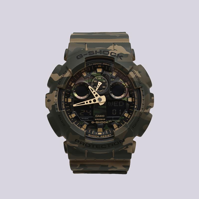 камуфляж  часы casio g-shock ga-100cm GA-100CM-5A - цена, описание, фото 1