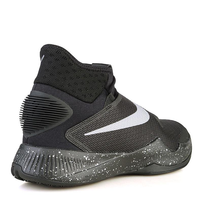 мужские черные  кроссовки nike zoom hyperrev 2016 820224-001 - цена, описание, фото 2