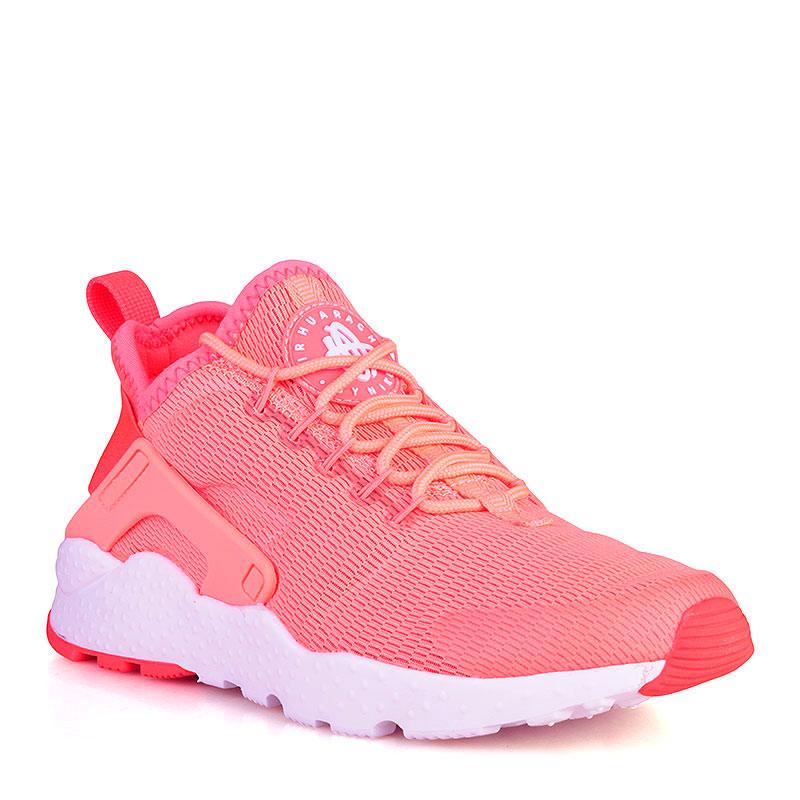 Купить женские коралловые, белые  кроссовки nike wmns air huarache run ultra в магазинах Streetball изображение - 1 картинки