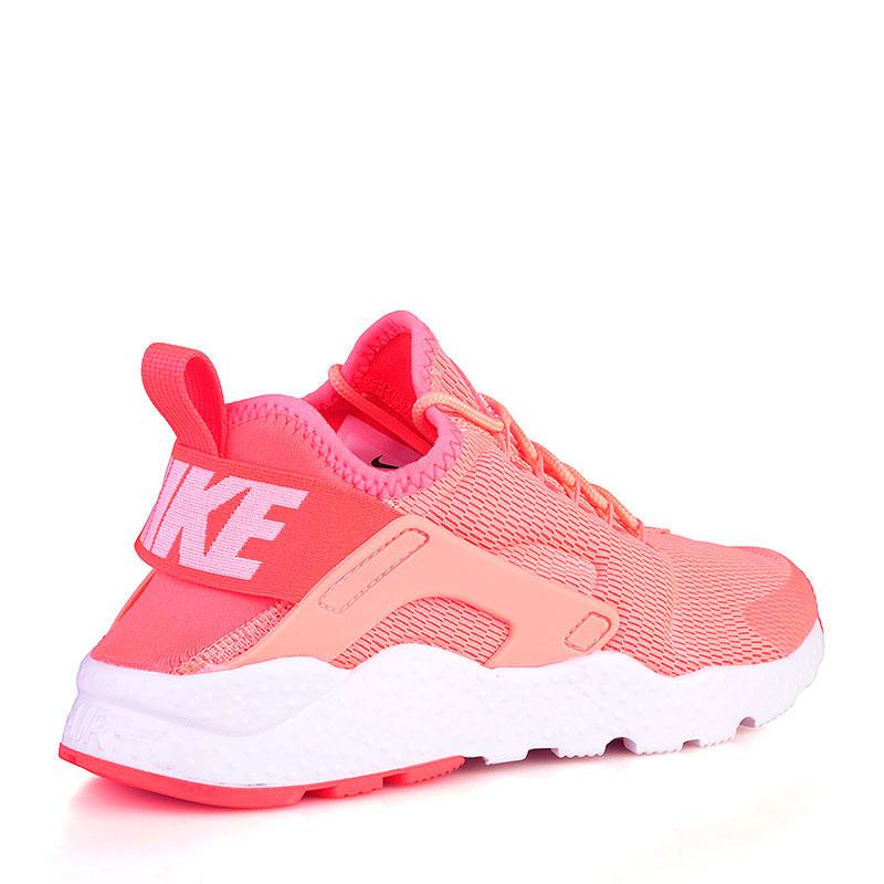 Купить женские коралловые, белые  кроссовки nike wmns air huarache run ultra в магазинах Streetball изображение - 2 картинки